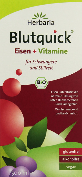blutquick; herbaria; Eisen; Vitamine