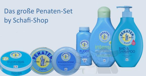 尺寸Penaten护理套装:粉末,乳霜,护理霜,伤口保护,护理乳以及沐浴露和洗发水