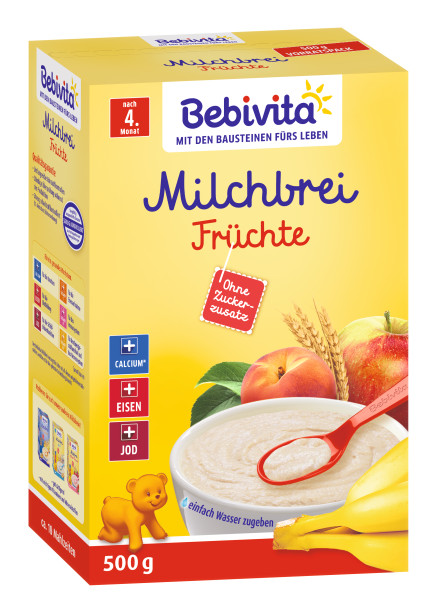 Bebivita milk porridge fruits after the 4th month, 500g