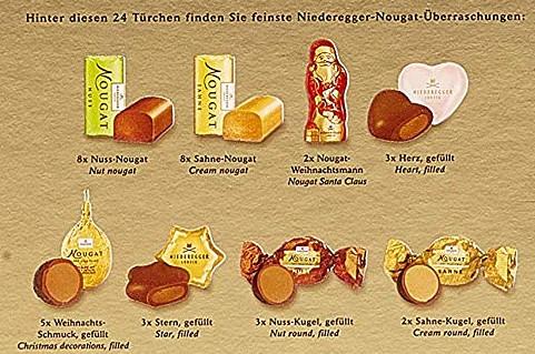 Niederegger Advent Calendar Nougat Backside