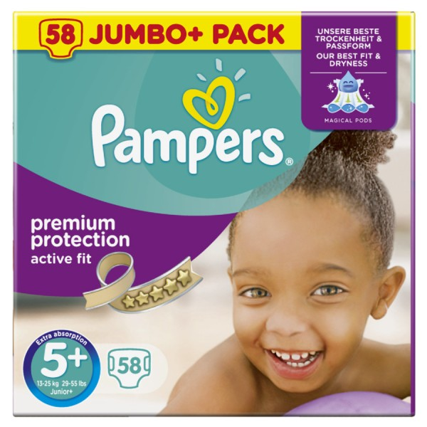Pampers ActiveFit Größe 5+ (Junior Plus)