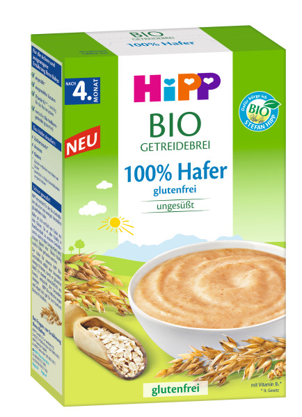 Hipp organic cereal porridge 100% oat, gluten-free, after the 4th month, 200g