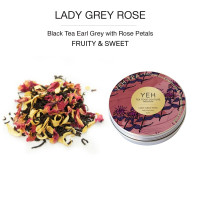 Lady Grey Rose, 25g tin black tea flavoured with rose and orange blossoms