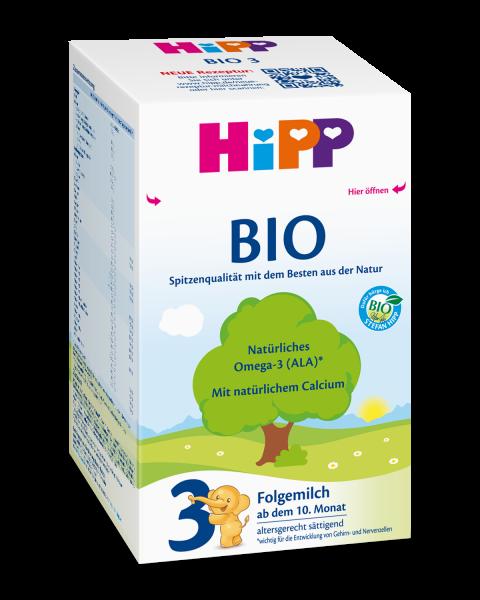 Lait de suite Hipp Bio 3 à partir du 10ème mois, 600g