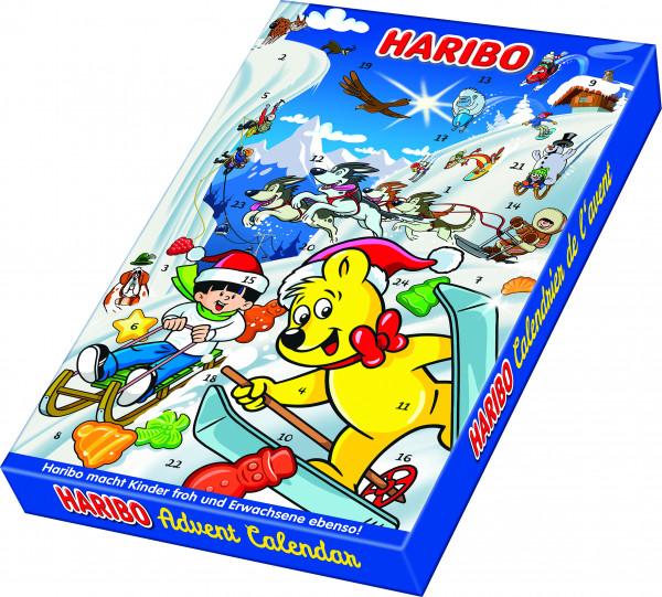 Haribo降临日历,水果胶和耐嚼糖果300克