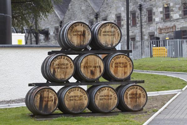 Whiskyfässer von Aberfeldy