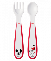 NUK Mickey cutlery set for learning to eat