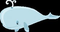 Wal hellblau