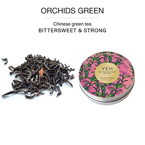 """""""Orchids Green"""", 30g tin of green tea flavoured with orchid blossoms"""