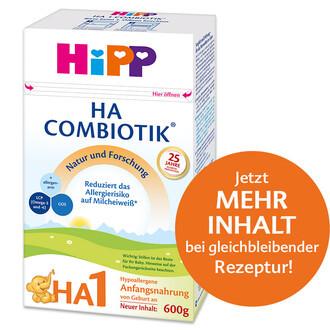 Hipp HA1 Combiotik Hypoallergene Anfangsmilch von Geburt an, 600g