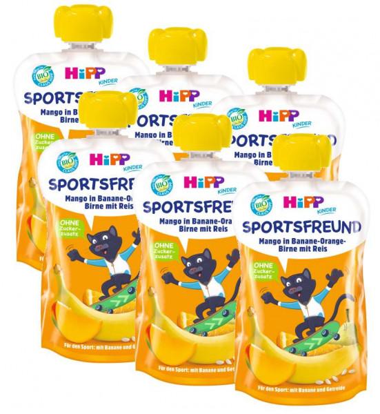 Hipp Bio Sportsfriend Pit Puma Mango en banane-orange-poire avec riz 6 x 120g