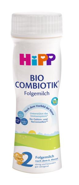 Hipp Bio Combiotik 2 ready-to-drink milk, 200ml, pack of 6 (=6 x 200ml)