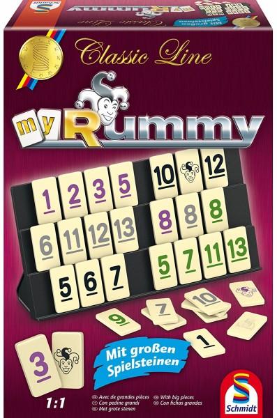 Schmidt Spiele Classic Line Rummy mit Ergänzungs-Set für 5+6 Spieler Brettspiel