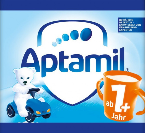 Aptamil children's milk 1+ Bobbycar cup white bear