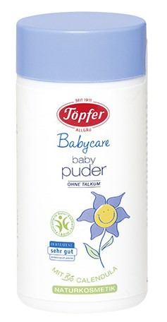 德国Töpfer 特福芬婴儿纯天然有机爽身粉痱子粉75g