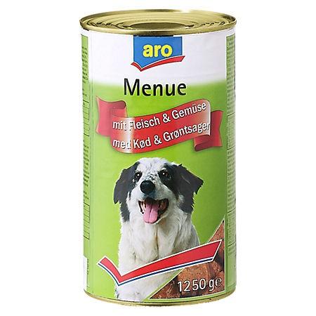 ARO Hundemenü Fleisch/Gemüse, 1240g Dose