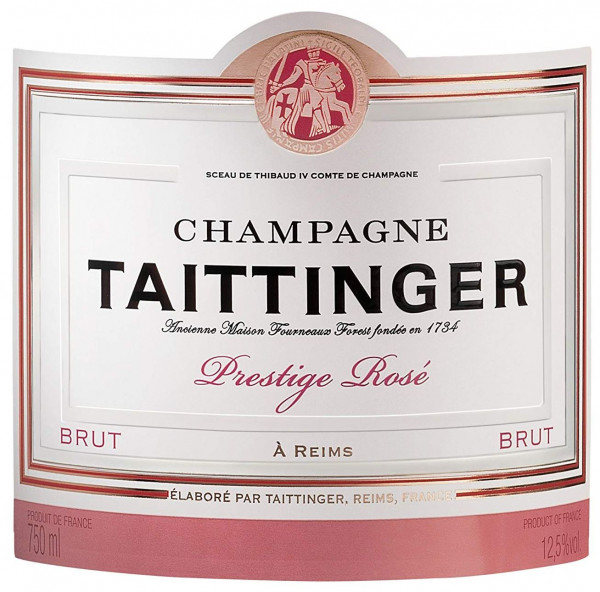 Taittinger Rosé Label