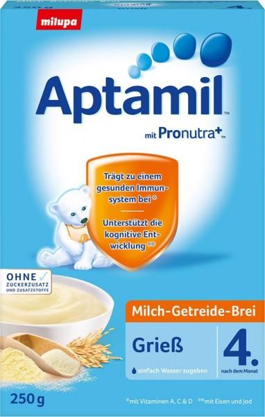 Aptamil; Milch; Getreide; Brei; Grieß; ab; 4.; Monat;