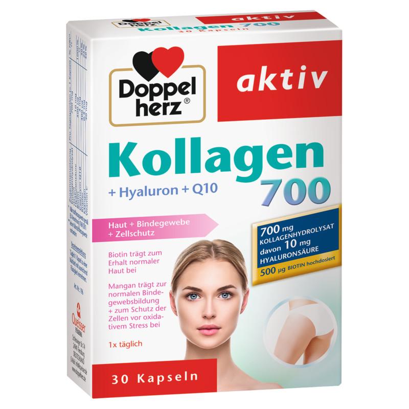 Image result for Doppelherz Collagen 700 + Hyaluron + Q10, 30 Capsules