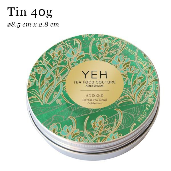 Anís, 40g lata de té de hierbas orgánicas con anís