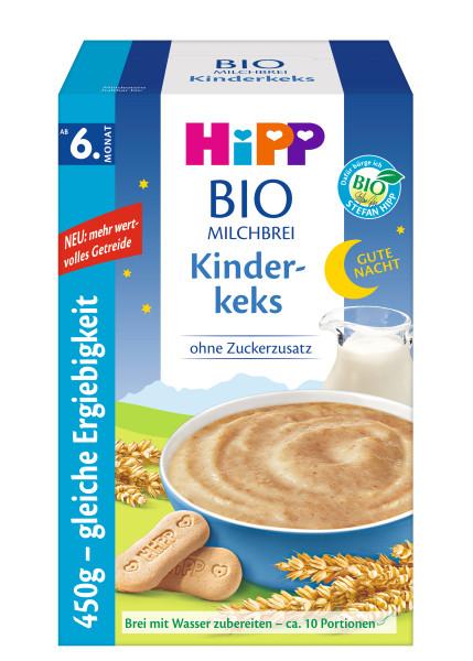 Gachas de avena Hipp a la hora de acostarse, galletas para niños a partir del 6º mes, 450g