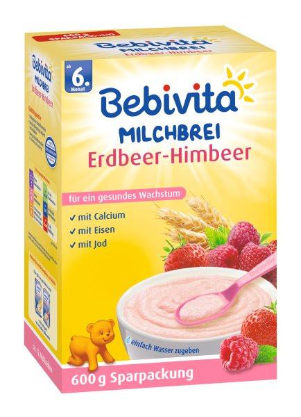 Bebivita Milchbrei Erdbeer-Himbeer ab 6. Monat, 600g