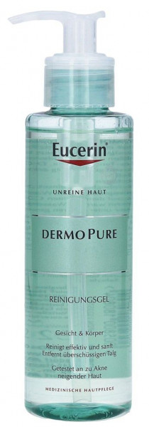 Eucerin Dermopure Cleansing Gel for clean, clear and smooth skin, 200ml