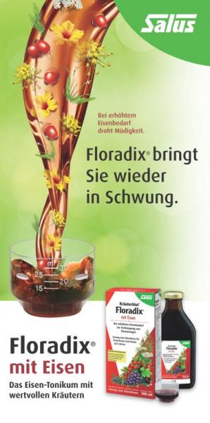 Floradix mit Eisen bringt Sie wieder in Schwung Das Eisen-Tonikum mit wertvollen Kräutern