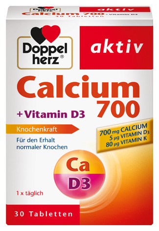 Doppelherz; Calcium 700; Vitamin D3; Tabletten; Nahrungsergänzung