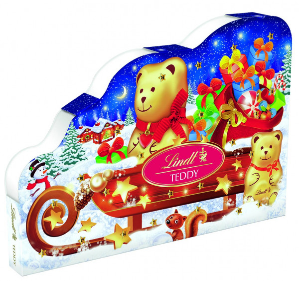 Lindt&Sprüngli雪橇上的泰迪熊降临日历,265g