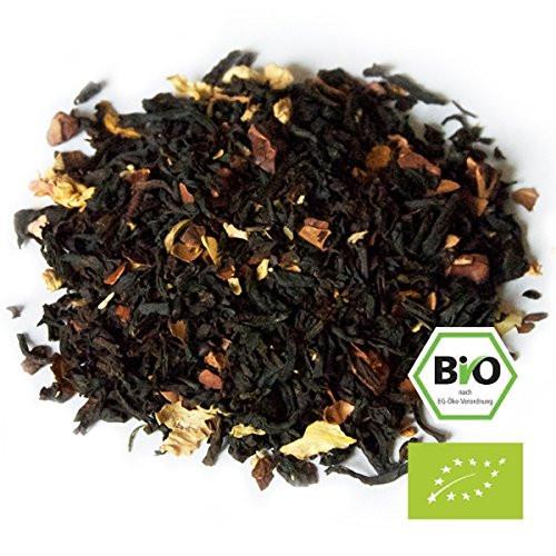 """Sr. Cacao"", lata de 35g de té negro orgánico aromatizado con granos de cacao y otros."
