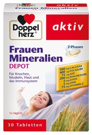 Doppelherz; Frauen; Mineralien; Depot; Tabletten; Nahrungsergänzung