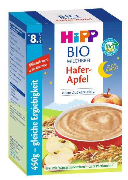 Hipp第八个月有机燕麦粥晚安粥燕麦苹果450g