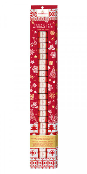 Niederegger Advent Calendar小杏仁饼棒,红色,300g