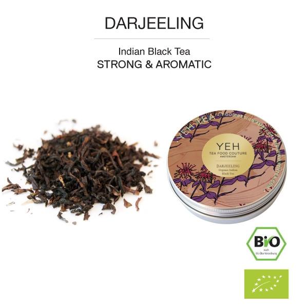 Darjeeling Black Organic Tea, 35g tin