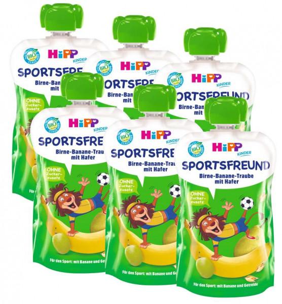 Hipp Bio Sportsfreund Leo Löwe Birne-Banane-Traube mit Hafer 6 x 120g