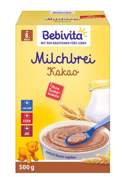 Bebivita第八个月的牛奶粥可可粉500g