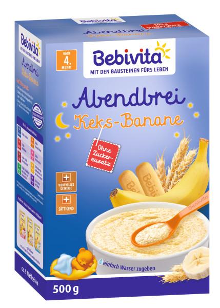 Bebivita milk porridge evening porridge biscuit banana after the 4th month, 500g