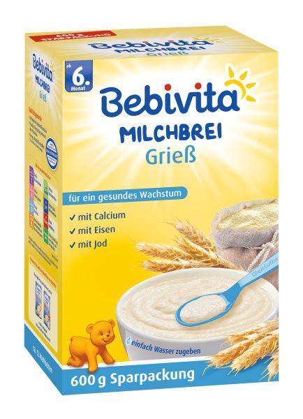 Bebivita Milchbrei Grieß ab 6. Monat, 600g