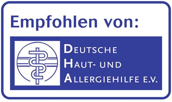 Recomendado por Deutsche Haut- und Allergiehilfe e.V.
