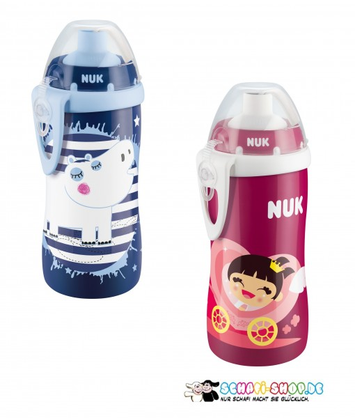 NUK FC Flexi Cup 300ML Prinzessin Soft-Trinkhalm-Becher