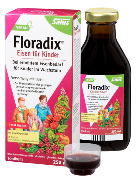 Salus Floradix for children with increased iron requirement for growing children, 250ml