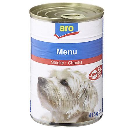 ARO Hundefutter Menü Rind, 415g Dose