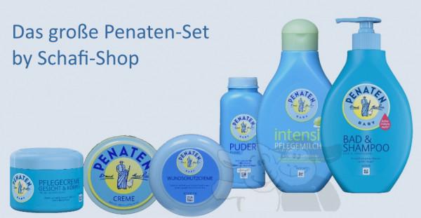 Penaten Pflegeset, Puder, Creme, Feuchttücher & Intensiv-Pflegemilch