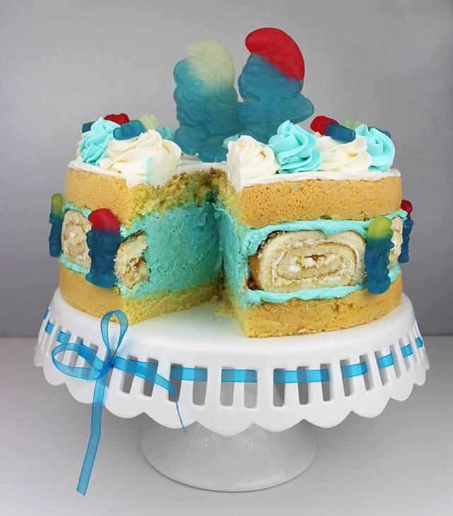 Haribo Schlumpf-Torte