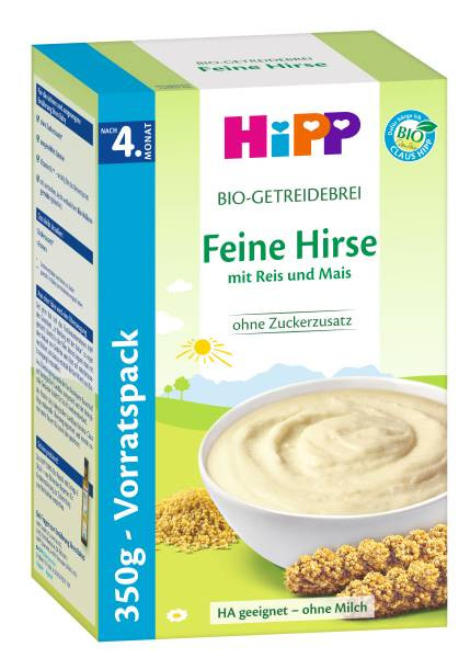 Hipp Organic cereal porridge Fine millet from the 4th month, 350g