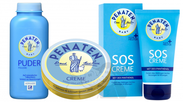 Penaten套装:SOS乳霜,Penaten粉和Penaten乳霜