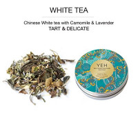 White tea flavoured with lavender and chamomile