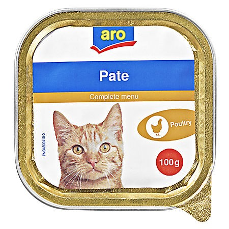 ARO Katzenmenü Geflügel, 100g Packung