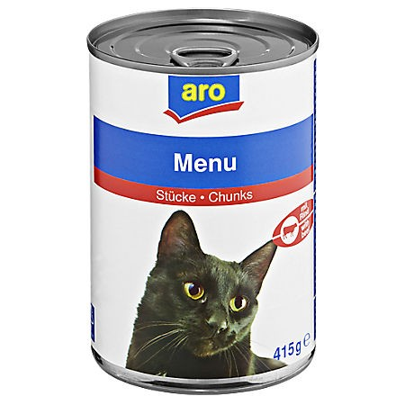 ARO Katzenmenü Rind/Geflügel, 415g Dose
